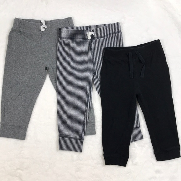 Carter's Other - Set of Gray and Black Cotton Joggers